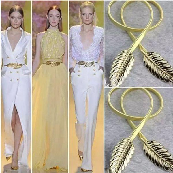 Nueva moda de oro y color de la astilla del metal deja cinturones de las mujeres elástico cintura vestido en stock correa de la pretina para la boda, la noche, vestidos de baile