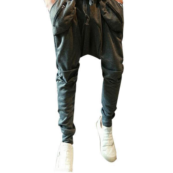 FG1509 Mens Joggers Fashion Harem Pants Trousers Hip Hop Slim Fit Sweatpants Men Dance Sport Pant ZHY1299
