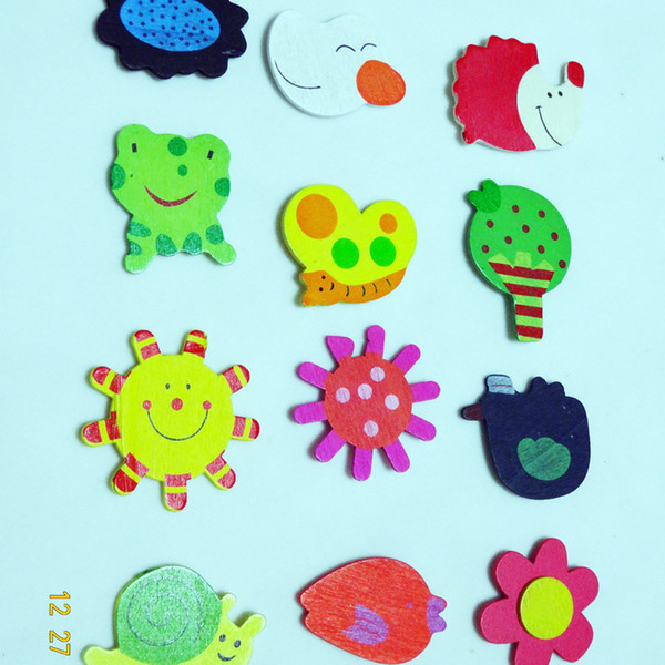 Cute Toys Children's Wooden Toys Educational Toys Early Childhood Mental Cartoon Cute Fridge Magnet Puzzle for Kids Christmas gift E453J