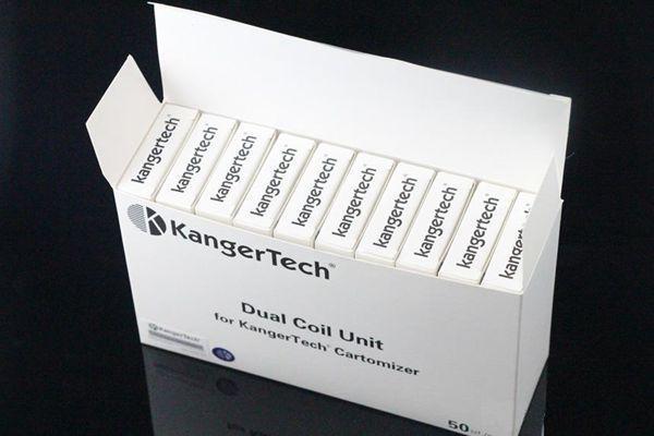 kanger Dual Coils e cigarettes cigarettes Pour Kanger Aerotank mega mini protank 3 T3D EVOD 2 atomiseurs à double bobine