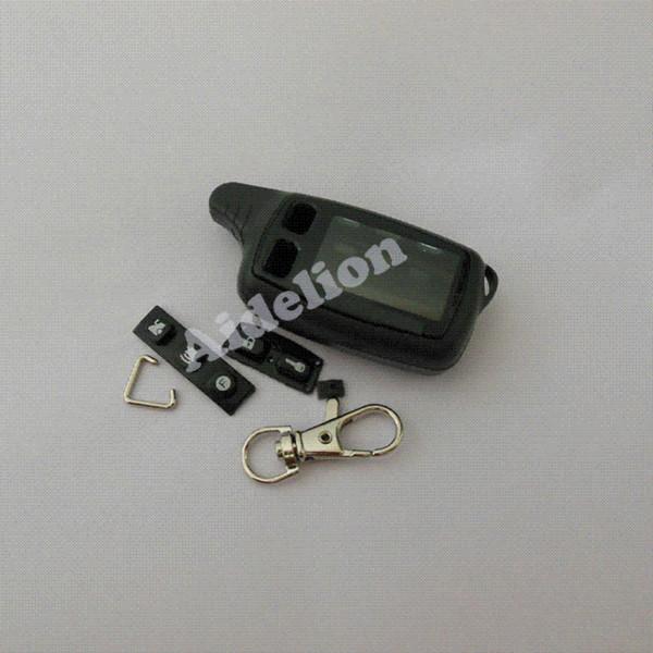 Freies verschiffen Tomahawk TW9010 fall keychain + ledertasche für Tomahawk TW9010 Zweiwegautowarnung / Autofernsteuerungssystem M38285
