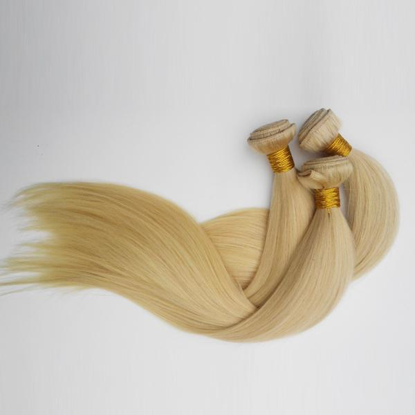 Brazilian Human Hair Straight 613# Light white Machine double weft Best quality Europe American hair extensions Indian remy hair 3pc/lot