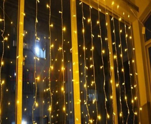 1600 LED lights 10*5m Curtain Lights, led Lighting Strings Flash Fairy Festival Party light Christmas light wedding Decor AC110V-220V