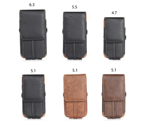 Holster Belt Clip Waist Man Flip Leather case CARD Cover pouch Bag Case For iPhone X 8 6S 7 Plus Samsung Galaxy S8 plus