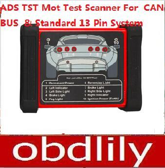 2015 Newest ADS TST Mot Testing Scanner For CAN-BUS And Standard 13 Pin System DHL Free Shipping