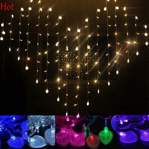 3 m 128 led luz da corda do coração cores de decoração de casamento luz fada cortina luzes de natal xmax party decor home corda ao ar livre sv007227
