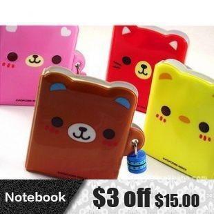 Korean Cute Mini Diary Book with Lock kawaii Notebook Journal Memo Combination Lock notepad wholesale kid gift Free shipping 306