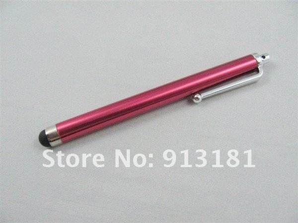 Wholesale-100pcs Capacitive Touch Pen Stylus For iPhone 3G 3GS 4 4G tablet pc Mix 7 Colors hot sale CN