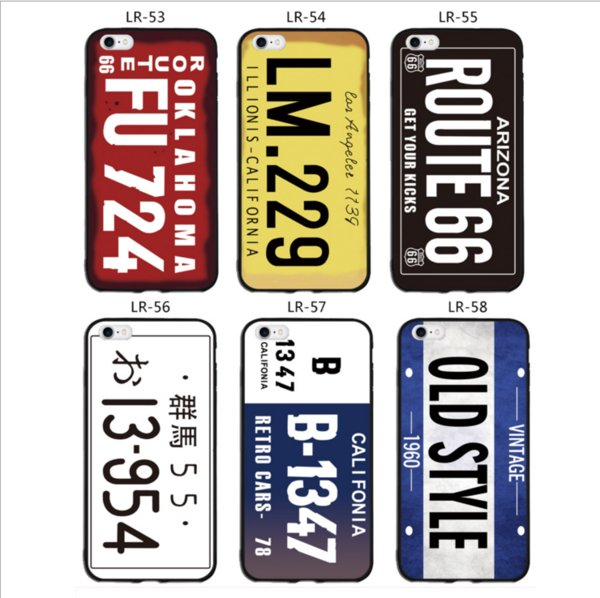 License Plate Number Phone Case For IPhone 7 Plus 6 6s TPU Cases Car Number  License Plate Capa Funda Coque Cover Cell Phone Cases Covers Cell Phone
