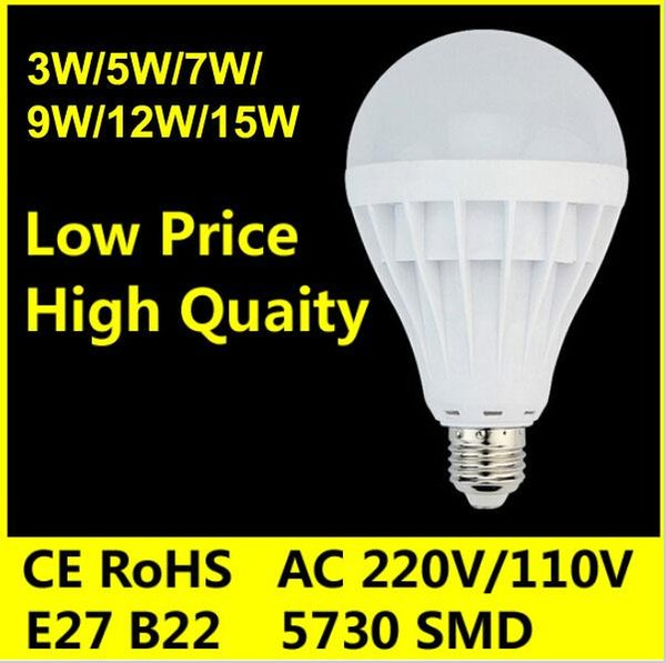 E27 B22 Led Globe Bulb 3W 5W 7W 9W 12W 15W LED Lamp Cold white Warm White Led Spotlight Lamps energy saving light