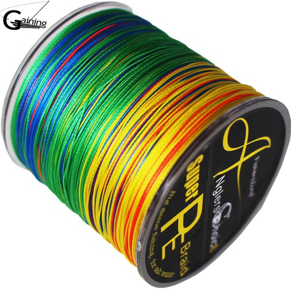 Fishing Pe Line 8 Strands Braided Fishing Line 300m Multi Color Super Strong Japan Multifilament PE Braid Line 6LB To 220LB
