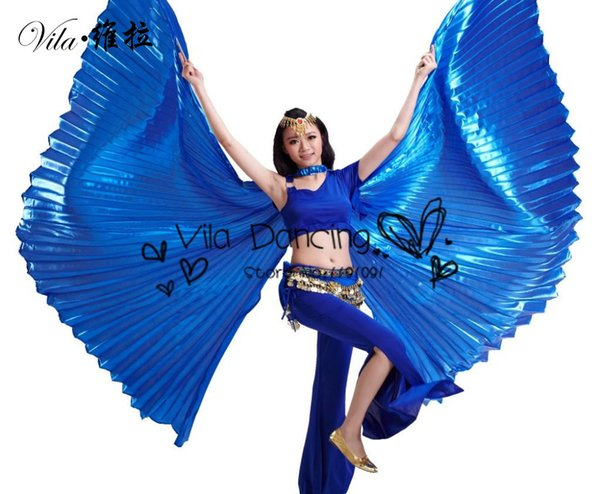 top popular Egypt Isis Belly DanceWings Dance Wing Hot New indian dance accessories for bellydance 1pc wing 10 colors 2021