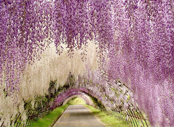 best selling 1.1 Meter Long Elegant Artificial Silk Flower Wisteria Vine Rattan For Wedding Centerpieces Decorations Bouquet Garland Home free DHL