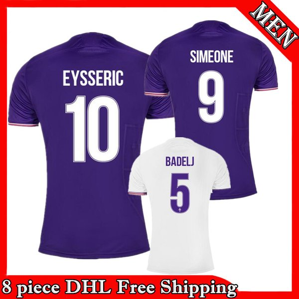 17 18 Fiorentina Soccer Jersey 2017 2018 THEREAU Football Shirt EYSSERIC  Maillot BADELJ SIMEONE Maglia home 2df1f4aef