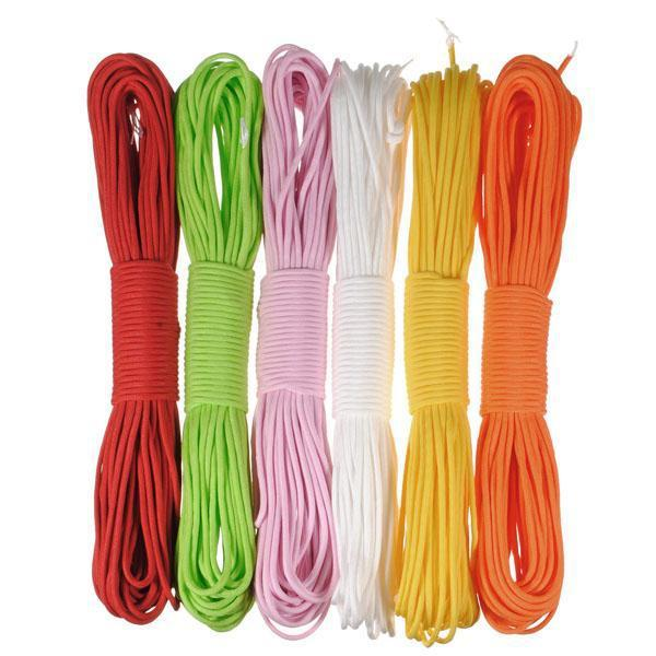 10pcsx10ft/pc 550 Paracord Parachute Cord Lanyard rope Mil Spec Type III 7 core strands 50 colors for option