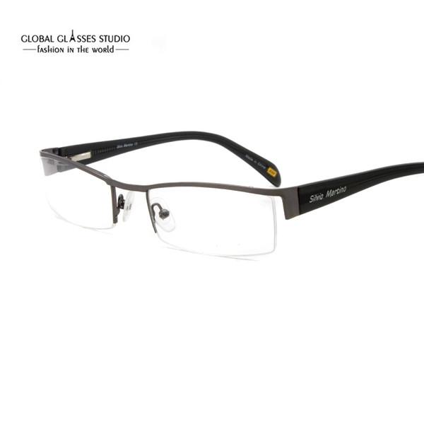 Compre Envío Gratis Diseño Clásico Medio Marco Hombres Lentes De ...