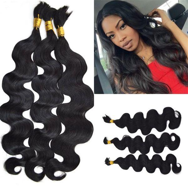 Human Hair Bulk No Weft 100 Unprocessed Body Wave Malaysian Bulk Braiding Hair For Black Women LaurieJ Hair