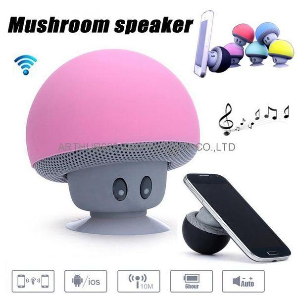 Mushroom Bluetooth Speaker Car Speakers with Sucker Mini Portable Wireless Handsfree Subwoofer for Mobile Phones Tablet PC