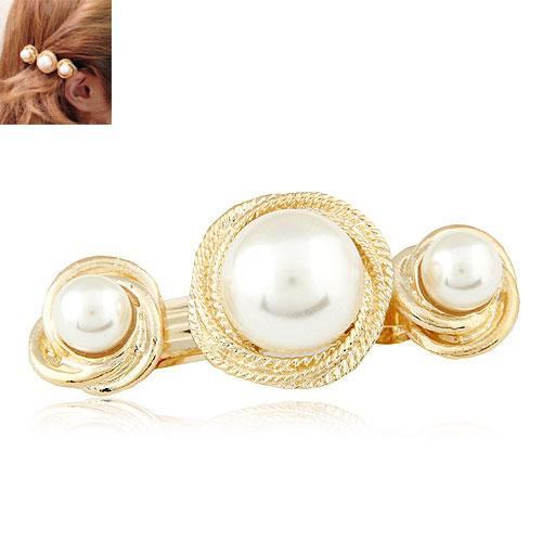 2015 Fashion Gold High Quality Imitation Pearl Hair accessory Hair Clip Jewelry For Women