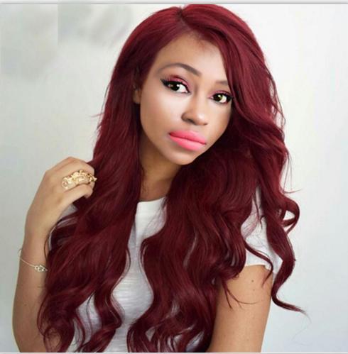 Red Hair Weave Body Wave 99J Brazilian Peruvian Malaysian Indian Human Hair Weaves Body Wave 3/4 Bundles Lot Brazillian Hair Extensions