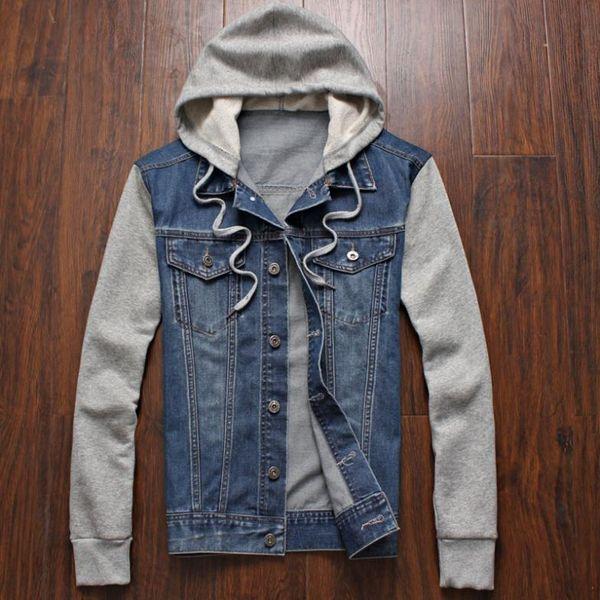 Großhandels-Mens Winter-Jeans Outwear plus Größen-Kapuzenpullis Jean-Jacke beiläufige Art und Weise outwear Größe m L xl xxxl xxxxl xxxxxl