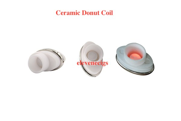 2016 full ceramic dual ceramic donut atomizer coil for elips micro gpen cloud pen ceramic electronic cigarette 0.5-0.7ohm for Box Mod