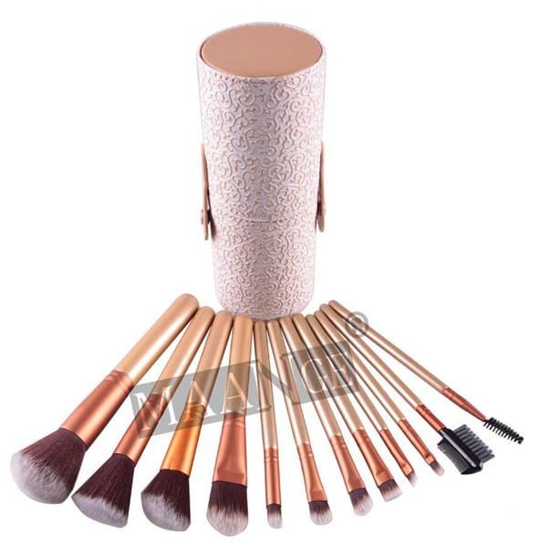 10 pz Donna maange Pennelli Trucco 12 PZ Set Cosmetico Ombretto Fard Kit Pennello Nero Custodia per il trucco Make up Brush Maquiagem 10 Set