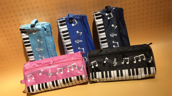 best selling DHL & SF _Express music piano pencil case multi color waterproof cloth Keyboard pencil bag factory price(2)