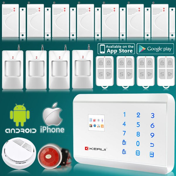 LS111- White Wireless /wired GSM Sensor Alarm Systems For Smart Home Burglar Security House PIR Motion 8218G Kerui Russian Menu