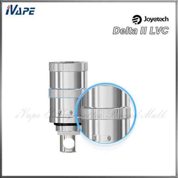 Joyetech Authentic Delta II Cabeça LVC 0.5ohm Joye Delta 2 Atomizador Substituição LVC Controle de Válvula Líquida Bobinas Cabeça 100% Original