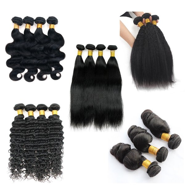 Brazilian virgin hair body wave 4 bundle 8 28 inch remy human hair weave traight loo e deep jerry curly kinky traight hair exten ion