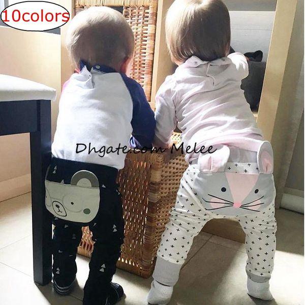 top popular INS 3D Kids Baby FOX Pants Trousers Autumn Spring Cute Animal Ploka Dots Boys Wolf animal Long Pants Shorts cartoon Harem pants 10colors 2020