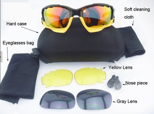 2015 Brand New Eyewear & Accessories > Sunglass Cycling Glasses Sport Sunglasses UV400 Bicycle Many Color TR90 Frame 3 pairs Lenses Goggles