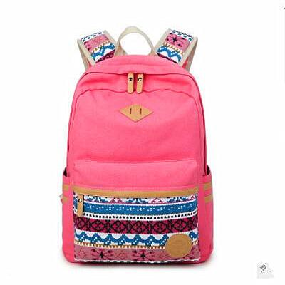 Wholesale- Ethnic Women Backpack for School Teenagers Girls Vintage Stylish School Bag Ladies Canvas Backpack Female Back Pack High Quality