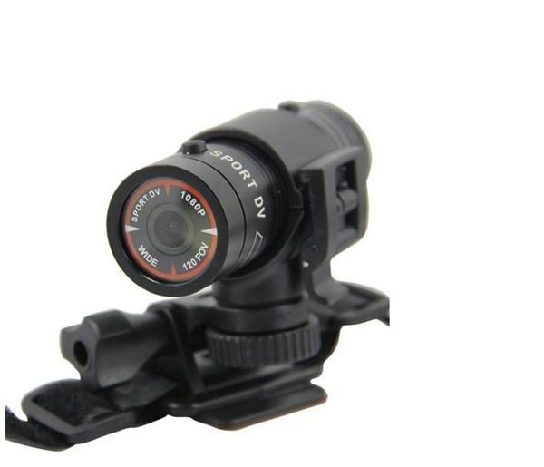 Carro dvr bicicleta capacete câmera à prova d 'água esportes ao ar livre F9 Lanterna DV gravador HD 1080 P