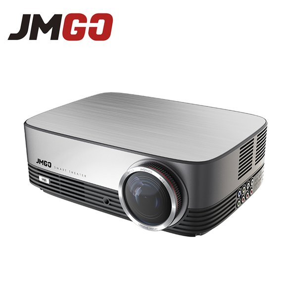 Wholesale- JMGO A6 LED Projector, 300 ANSI Lumens, 1280x768, Set in Android, WIFI,Bluetoot, HDMI, USB, VGA, Support Full HD Video Proyector