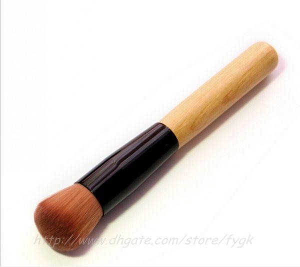 Professional Brush Cosmetic Makeup Basic Tool Wooden Handle Full Featured Foundation Makeup Brush Cream Flat Top Buffing Cosmetic Tool Makeu