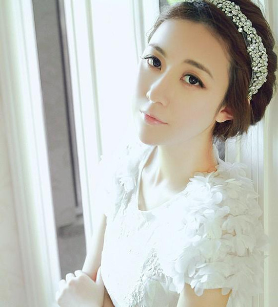 Fashion New Korea Hair accessories for children Crystal Mesh Yarn Bridal Headband rhinestone headband 3917