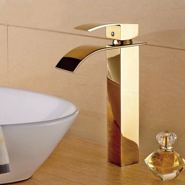 best selling Solid Brass Chrome Bathroom Faucet Waterfall Faucet Water Taps Luxury Gold Faucet Bathroom Hot&Cold Basin Mixer Taps