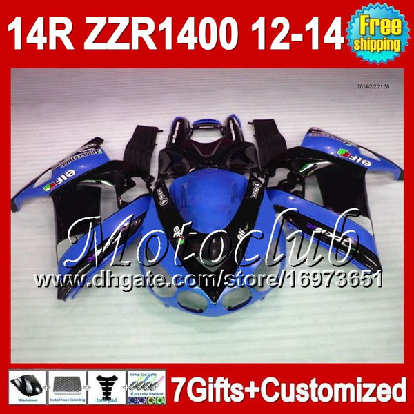 7gifts For KAWASAKI 12-13 NINJA Blue black ZZR1400 12 13 12 13 2C5185 ZZR-1400 ZX14R 2012 2013 Blue black 2012 2013 ZZR 1400 Fairing