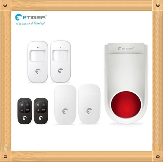DIY Set eTIGER Live Alarm System 433Mhz Home Security Protection Like Chuango G5 alarm system