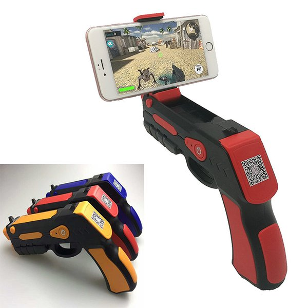 2017 Arma Virtual AR AR Portátil Bluetooth AR Brinquedos Arma Ar Blaster para iPhone Android Telefone Inteligente frete grátis OTH709