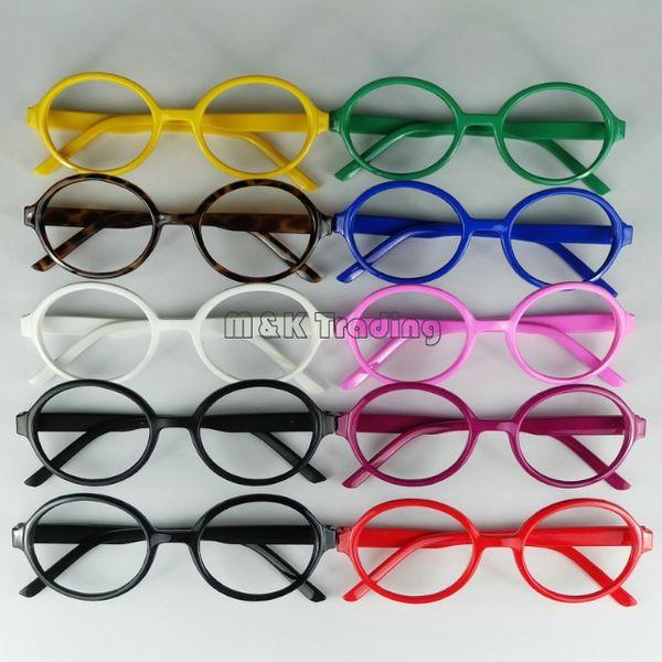 top popular Cheap Frame Fashion Baby Glasses Frame Kids Decorative Glasses Children Arale Eyeglasses No Lens Lovely Round Plastic Frame 2019