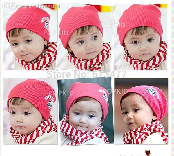 Wholesale-Winter Keep warm knitted hats for boy/girl/kits hats set,scarves, bug/bee infants caps beanine for chilld 1pcs/lot MC04