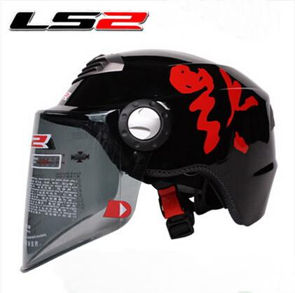 2015 new LS2 summer half face ls2 OF128 Motorcycle helmet Electric bicycle helmets Adjustable size Made of ABS for Men and women