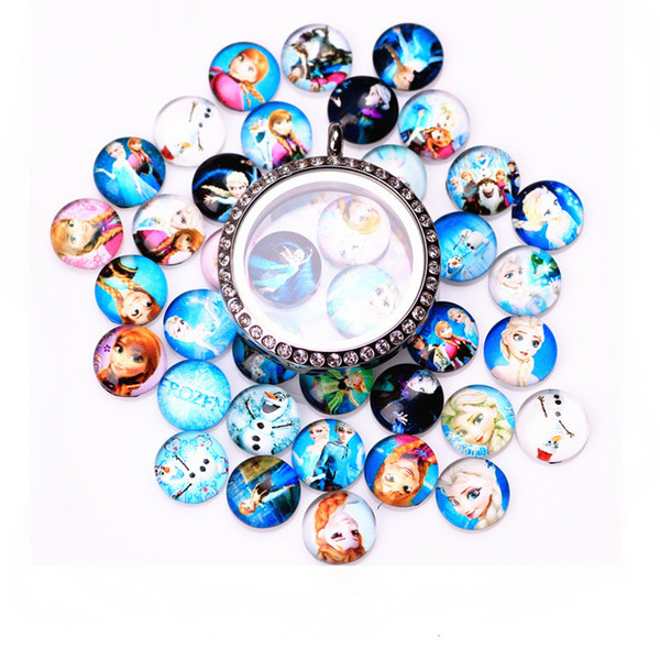 20PCS/Lot Ice Series New Paint Glass Floating Charms Floating Locket Charms Mixed Styles Fit Floating Lockets&Floating Locket Bracelet FC123