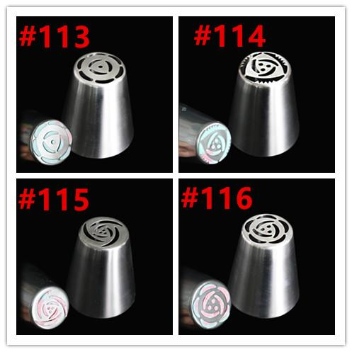Wholesale- free shipping new arrival stainless steel polished surface russian tulip nozzles rose piping tips for cupcake decoration