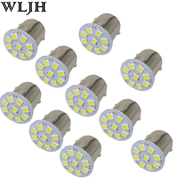 WLJH24V Led 1156 BA15S P21W & 1157 3528 SMD Chips External Lights Car Truck Trailer RV Brake Reverse Backup Lights Turn Signal Lamp
