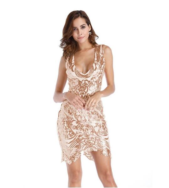 nessuna tassa di vendita alta qualità ultimo design Acquista 2018 Sexy V Neck Sleevess Vest Vest Abbigliamento Donna ...