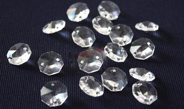 14mm düğün süslemeleri temizle kristal boncuklar, avize kristal cam boncuk noel ağacı kristal iplikçik boncuk